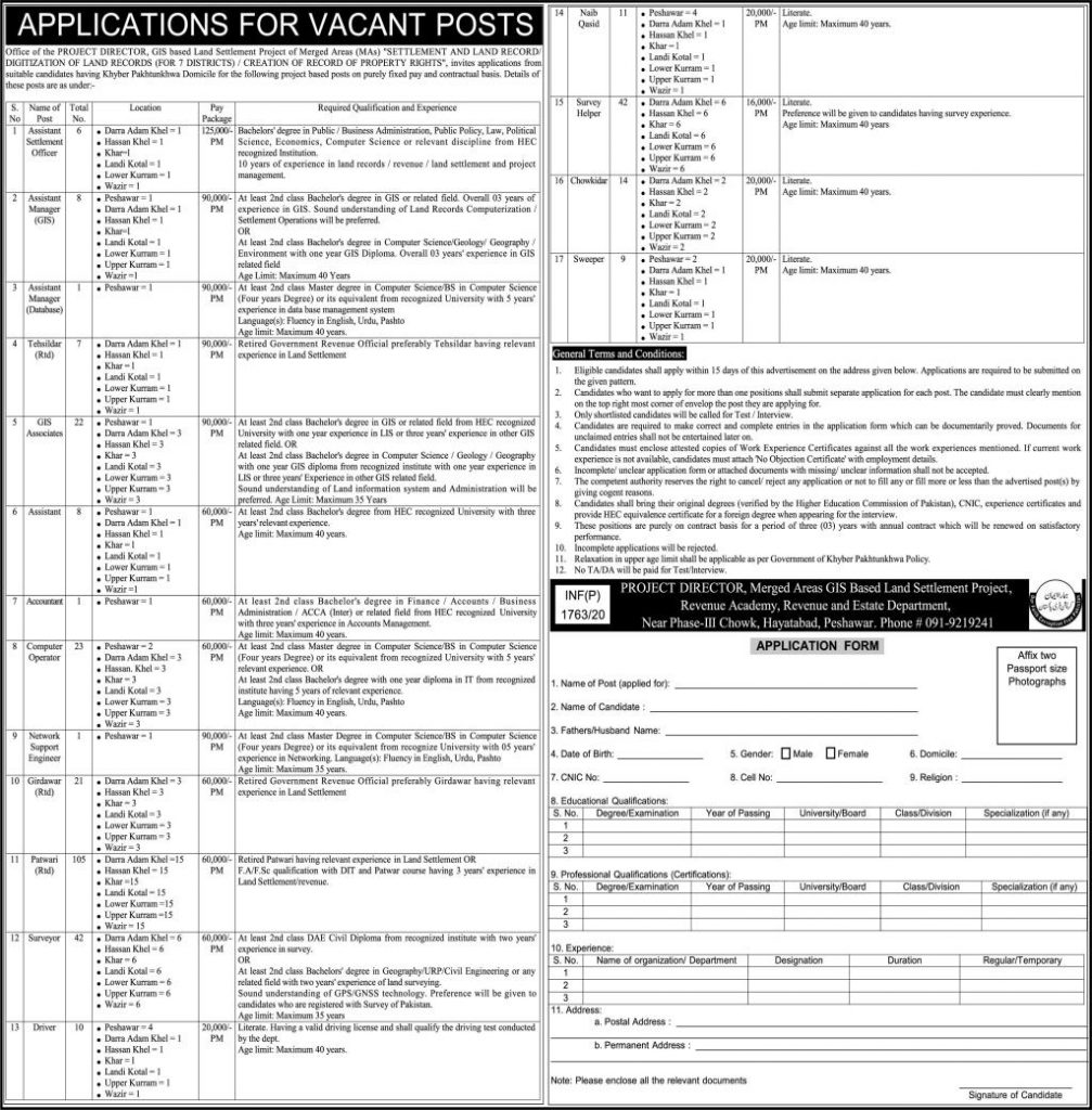 Land Record Authority Jobs 2020,Settlement And Land Record Digitization Of Land Records Merged Area Jobs