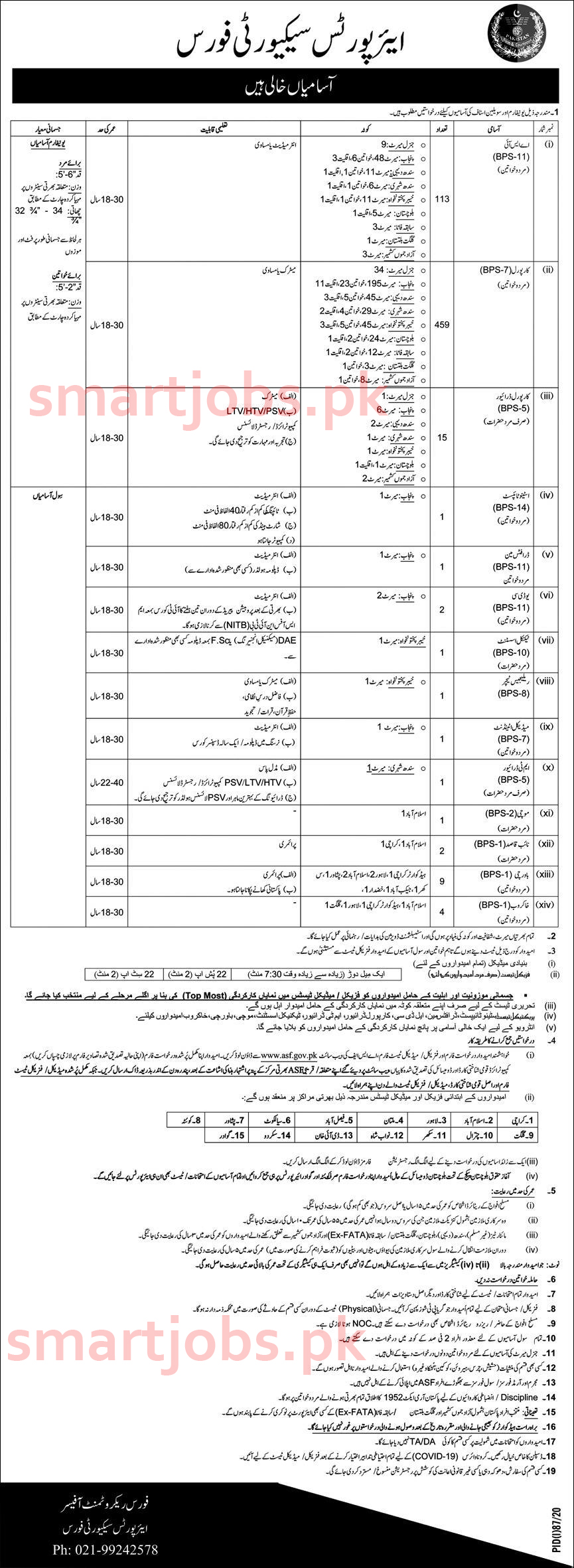 ASF Jobs 2020, Airport security Force Jobs 2020