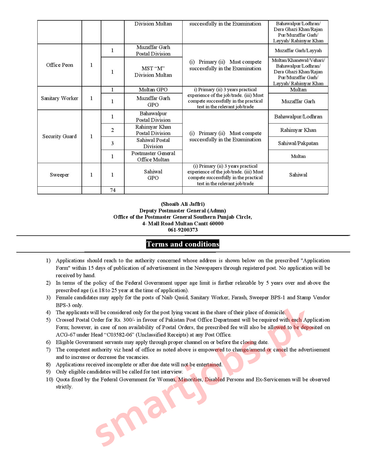 Pakistan Post Jobs 2020, PAKISTAN POST OFFICE Jobs 2020