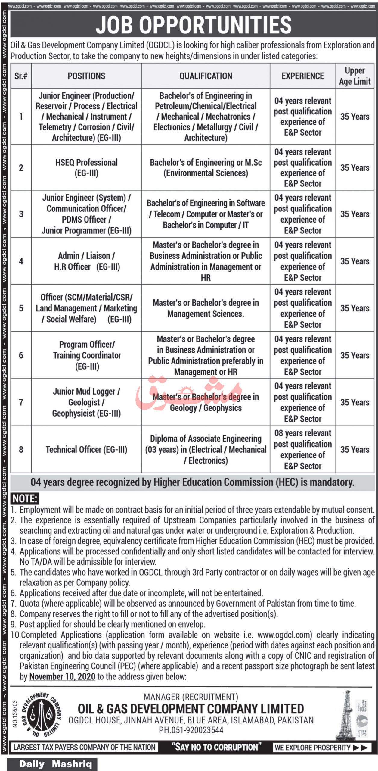 Oil and Gas Development Company Jobs