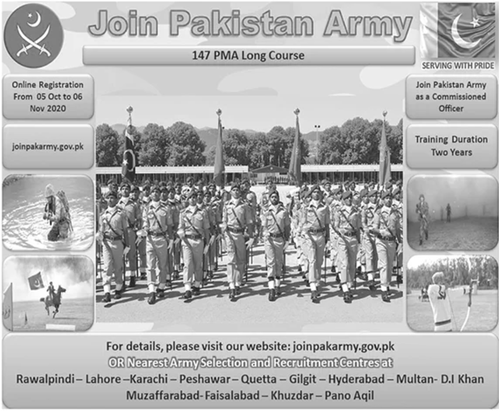 Join Pak Army as Commission Officer,PMA Long Course 147