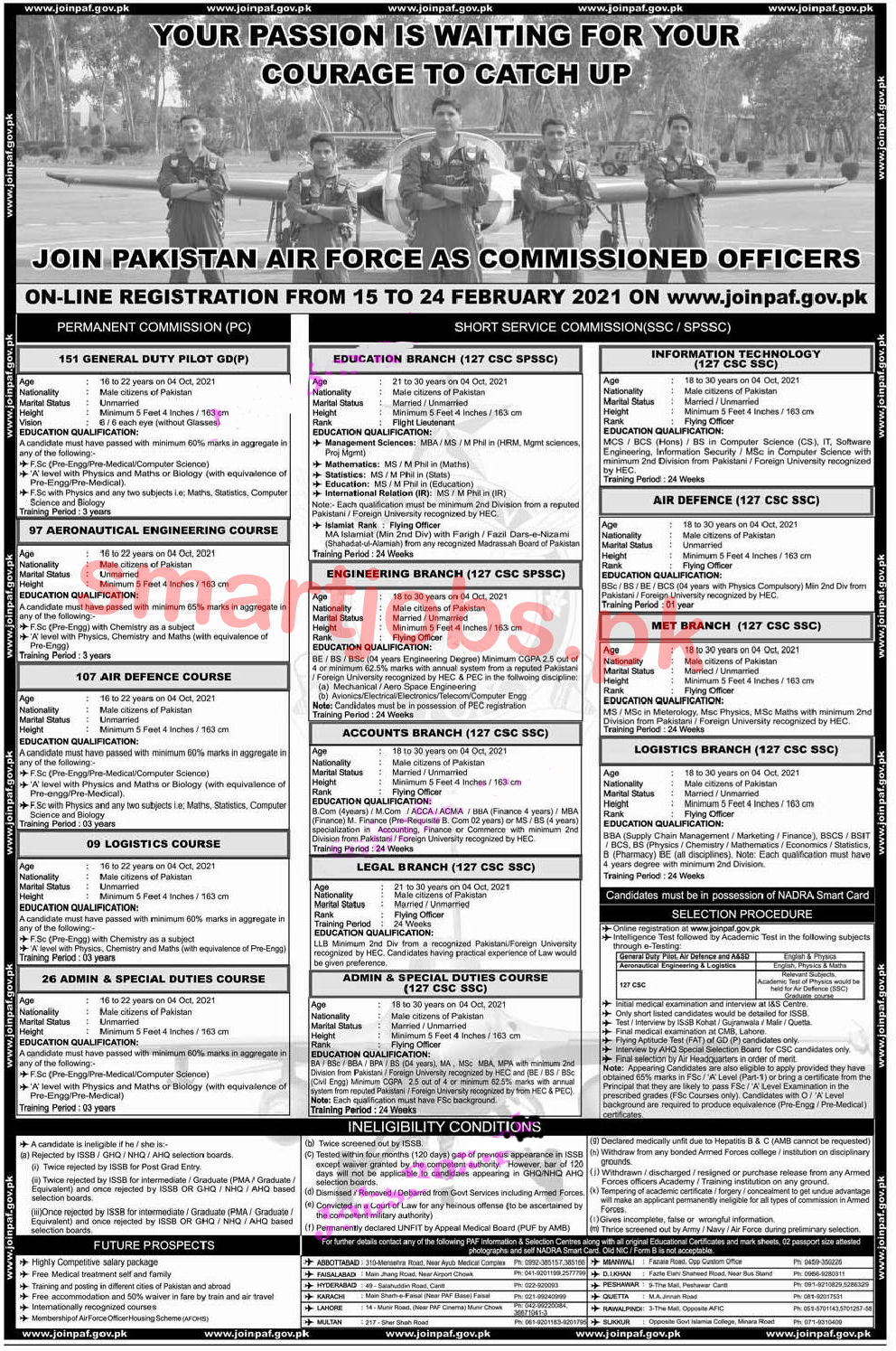 Join PAF Jobs 2021 as Commission Officer jobs