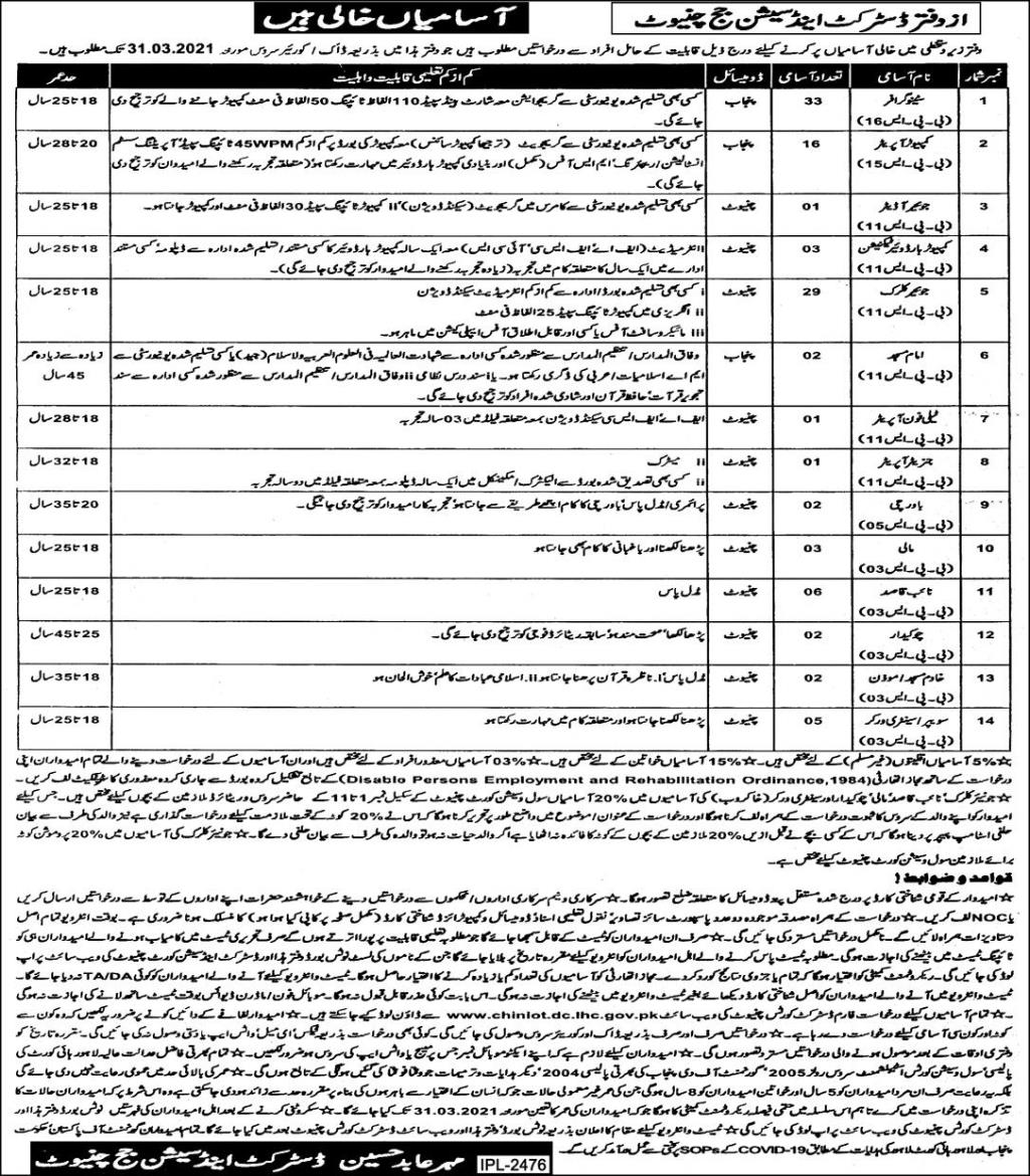District and Session Courts Jobs 2021, 1000+ Jobs