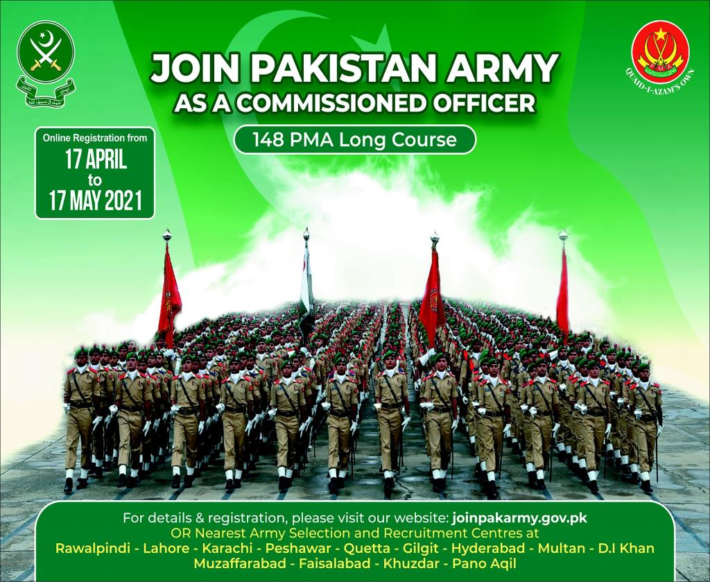 Join Pak Army as Commission Officer, PMA Long Course 148