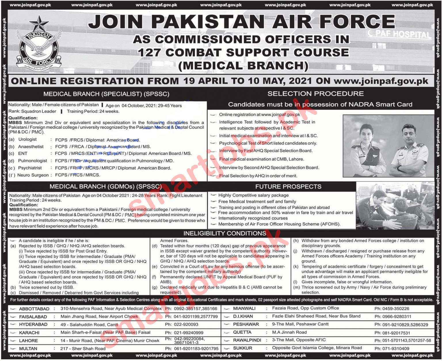 Join Pakistan Air Force PAF Jobs 2021 as Commissioned Officer